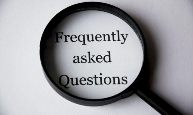 FAQ je veelgestelde vragen!